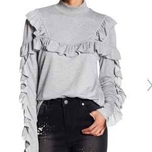 Romeo & Juliet Couture Ruffle Detail Sweater